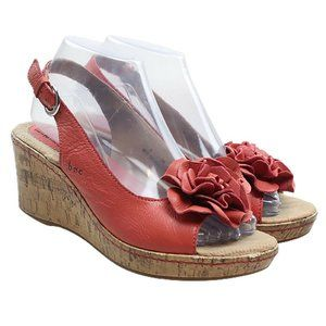 BOC Born Concept Coral Orange Wedge Sandals